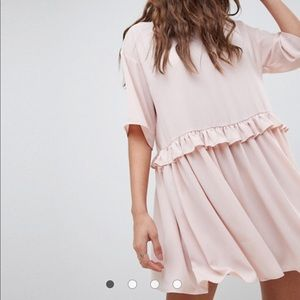 ASOS DESIGN pink smock dress size 8